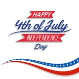 Happy USA Independence Day Fourth of July celebrate.  Royalty Free Stock Image