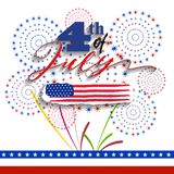 Happy USA Independence Day Fourth of July celebrate.  Stock Photography