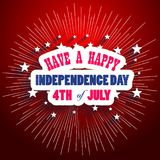 Happy USA Independence Day Fourth of July celebrate.  Stock Images