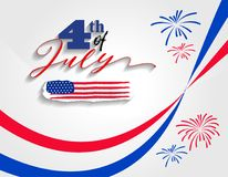 Happy USA Independence Day Fourth of July celebrate.  Stock Image