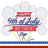 Happy USA Independence Day Fourth of July celebrate.  Royalty Free Stock Photography
