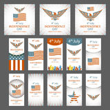 Happy USA Independence Day - Fourth of July - July 4th Vector Set Stock Image