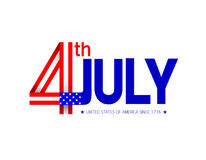 Happy USA Independence Day 4th July. Royalty Free Stock Photos