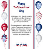 Happy USA Independence Day vector poster Stock Photo