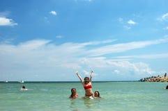 Happy vacation Stock Photos
