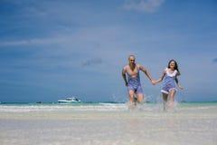 Happy vacation on the sea Stock Photos
