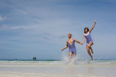 Happy vacation on the sea Stock Image