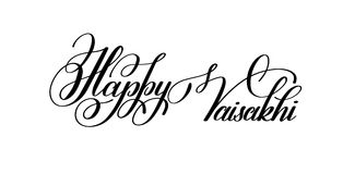 Happy vaisakhi hand written lettering inscription to indian holi Stock Photography