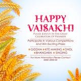 Happy Vaisakhi Punjabi spring harvest festival of Sikh celebration background. Illustration of Happy Vaisakhi Punjabi spring harvest festival of Sikh celebration Stock Image