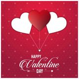 Happy Vakentine\'s day card with red pattern with hearts balloons. For web design and application interface, also useful for infographics. Vector illustration vector illustration