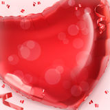 Happy Valentin Day. Red heart balloon vector background Royalty Free Stock Photography