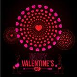 Happy Valentine's Day. Vector illustration of bursting heart fireworks. Happy Valentine's Day  theme Stock Image
