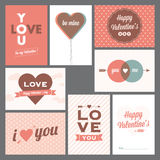 Happy valentine's day and weeding postcards Royalty Free Stock Images