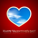 Happy valentine's day. background with heart Stock Photos
