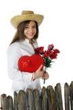 Happy with Valentine Stock Image