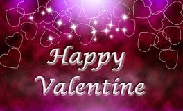 Happy valentine. Abstract star shine universe background, love edit Royalty Free Stock Photos
