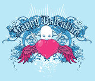 Happy Valentine. Valentine vector t-shirt design Royalty Free Stock Image