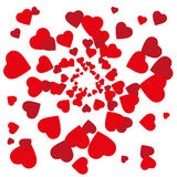 Happy valentine abstract background with many hearts. Happy valentine on white abstract background with many hearts Royalty Free Stock Image