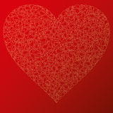 Happy valentine background with decorative hearts Royalty Free Stock Images