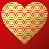 Happy valentine background with decorative hearts Royalty Free Stock Photos