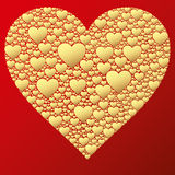 Happy valentine background with decorative hearts Royalty Free Stock Photo