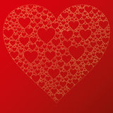 Happy valentine background with decorative hearts Stock Image