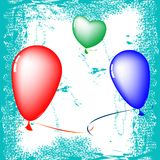Happy valentine balloons Royalty Free Stock Photography