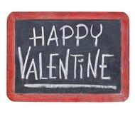Happy Valentine on blackboard Stock Images