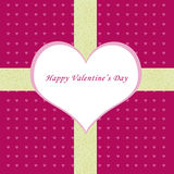 Happy Valentine card. Valentine card with a big heart and a background with some little hearts Stock Photography