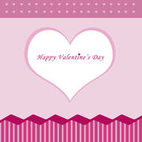 Happy Valentine card. Valentine card with pink and white hearts Royalty Free Stock Image