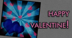 Happy valentine card Stock Image