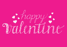 Happy Valentine card with brush script letters Stock Photo