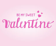 Happy Valentine Card with Brush Script Text Stock Photos
