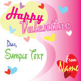 Happy Valentine. Valentine Card for someone special Royalty Free Stock Photos