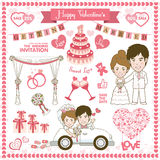 Happy Valentine Card. Vector and illustration Stock Photography