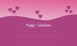 Happy Valentine cards on pink backgrounds. Illustration Royalty Free Stock Image