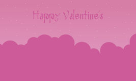 Happy Valentine with cloud pink backgrounds. Illustration vector illustration