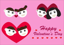 Happy valentine couples Royalty Free Stock Photo