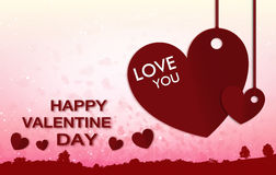 Happy valentine day background and Blur and Select focus background Royalty Free Stock Images