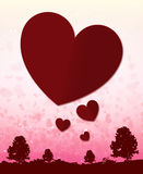 Happy valentine day background and Blur and Select focus background Royalty Free Stock Photo