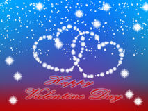 Happy Valentine day background. Valentine Heart Background in Red Gradient color.Created on 05 February 2016 Stock Image