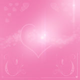 Happy valentine day background with hearts Royalty Free Stock Photography