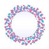Happy Valentine Day background. Little hearts. Happy Valentine Day background. Vector beautiful and romantic round wreath made of little colorful heart shapes in vector illustration
