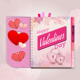 Happy valentine day background Stock Images
