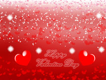 Happy Valentine day background red. Valentine Heart Background in Red Gradient color.Created on 05 February 2016 Stock Images