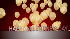 Happy Valentine day. With balloons, Full HD stock video footage