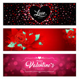 Happy Valentine day banners collections Stock Images