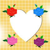 Happy Valentine day with beautiful four colour of roses blue red  Royalty Free Stock Photography