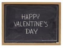 Happy valentine day on blackboard Royalty Free Stock Photo
