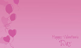 Happy Valentine Day card with pink backgrounds. Illustration stock illustration